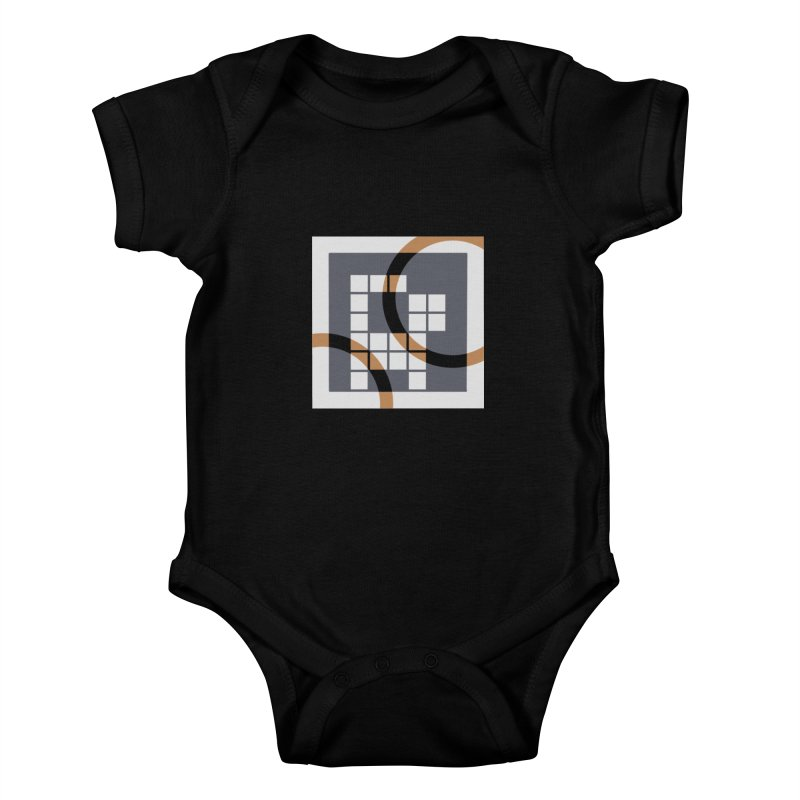 Calico Crossword Cat Kids Baby Bodysuit by deantrippe's Artist Shop