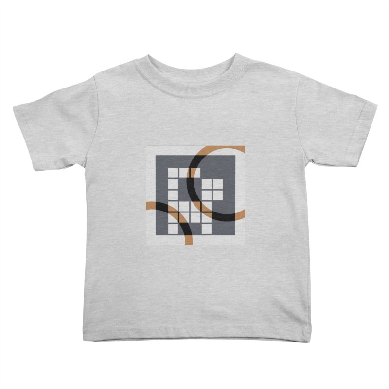 Calico Crossword Cat Kids Toddler T-Shirt by deantrippe's Artist Shop