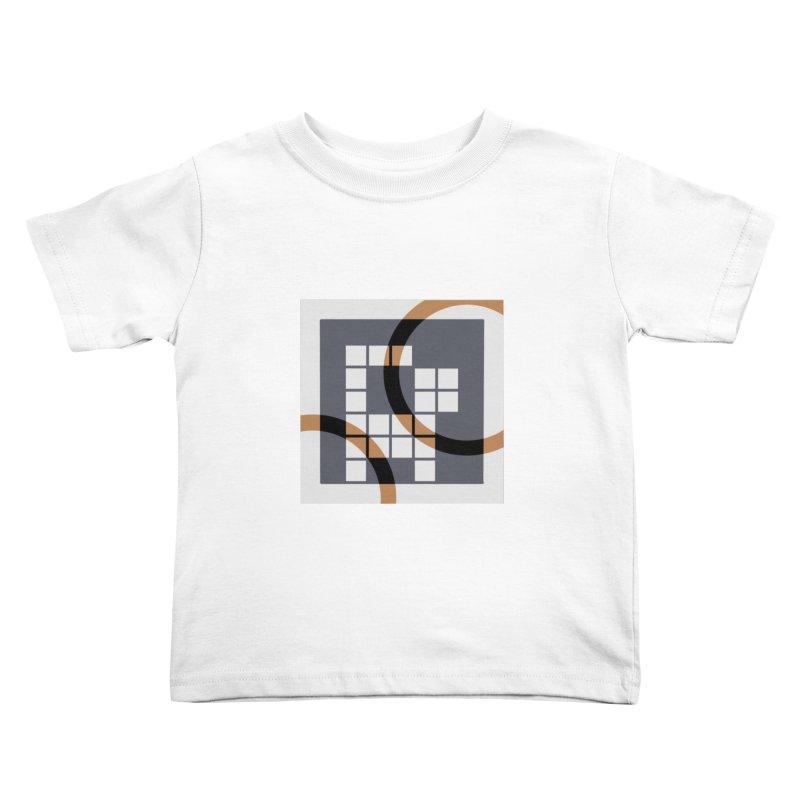 Calico Crossword Cat Kids Toddler T-Shirt by deantrippe's Artist Shop
