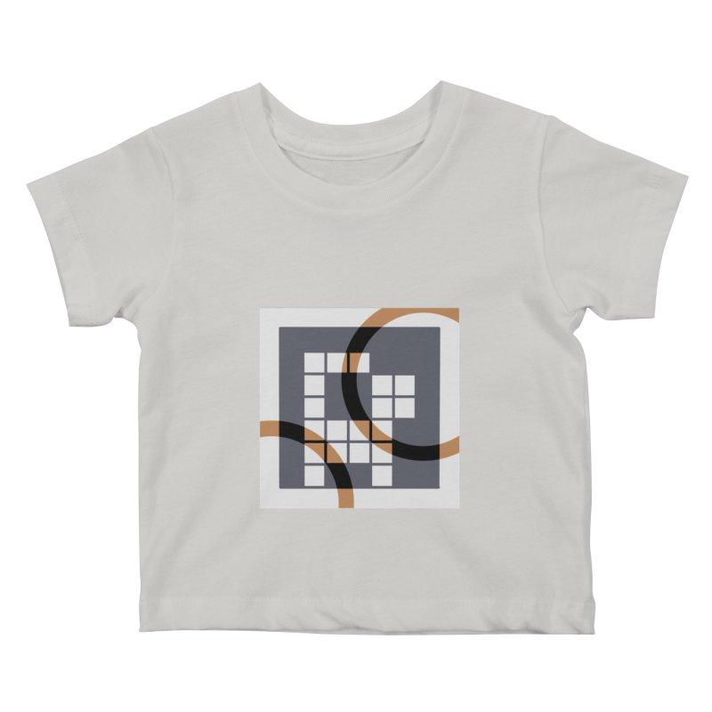 Calico Crossword Cat Kids Baby T-Shirt by deantrippe's Artist Shop