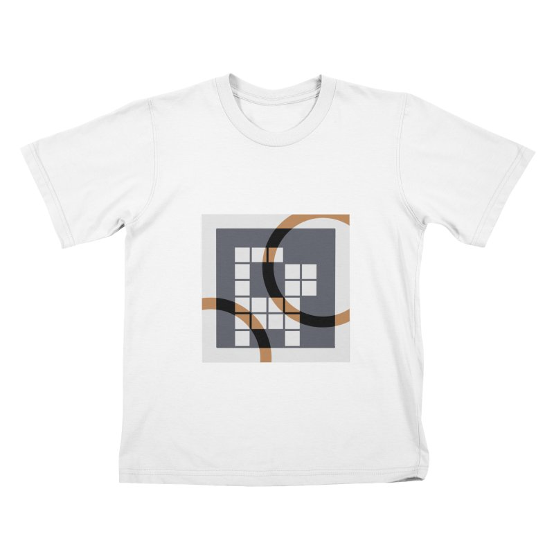 Calico Crossword Cat Kids T-shirt by deantrippe's Artist Shop