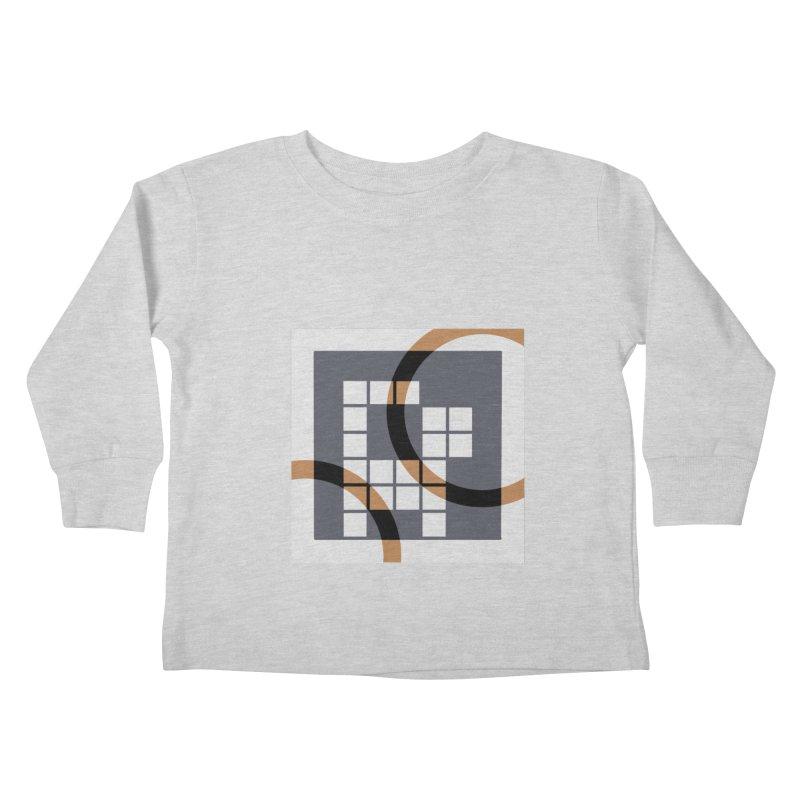 Calico Crossword Cat Kids Toddler Longsleeve T-Shirt by deantrippe's Artist Shop