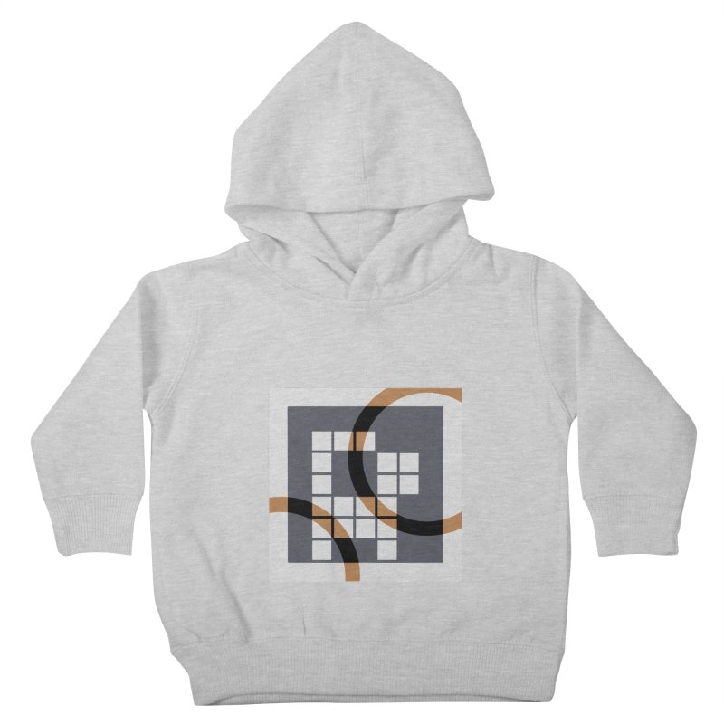 Calico Crossword Cat Kids Toddler Pullover Hoody by deantrippe's Artist Shop