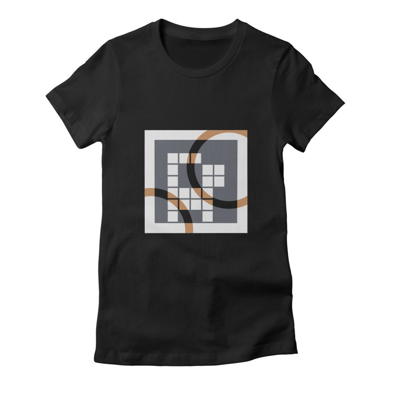 Calico Crossword Cat Women's Fitted T-Shirt by deantrippe's Artist Shop