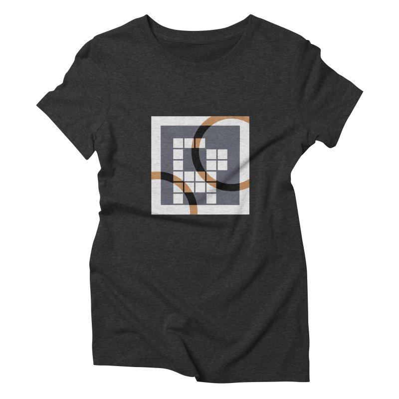 Calico Crossword Cat Women's Triblend T-Shirt by deantrippe's Artist Shop