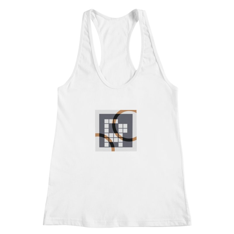 Calico Crossword Cat Women's Racerback Tank by deantrippe's Artist Shop
