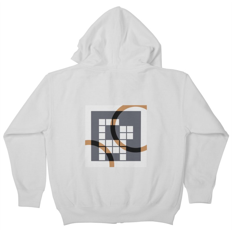 Calico Crossword Cat Kids Zip-Up Hoody by deantrippe's Artist Shop