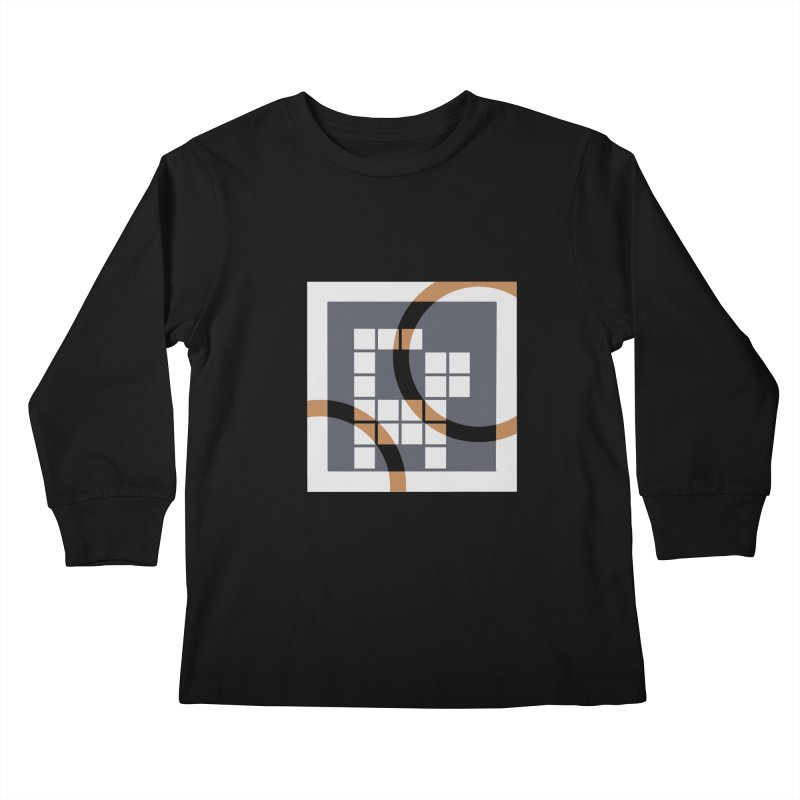 Calico Crossword Cat Kids Longsleeve T-Shirt by deantrippe's Artist Shop