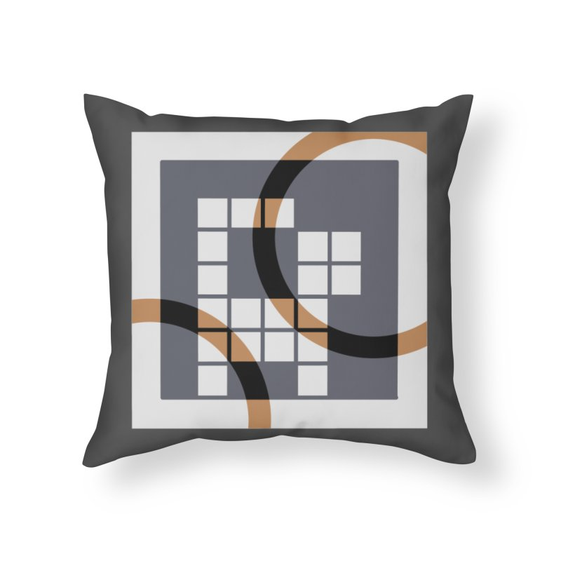 Calico Crossword Cat Home Throw Pillow by deantrippe's Artist Shop