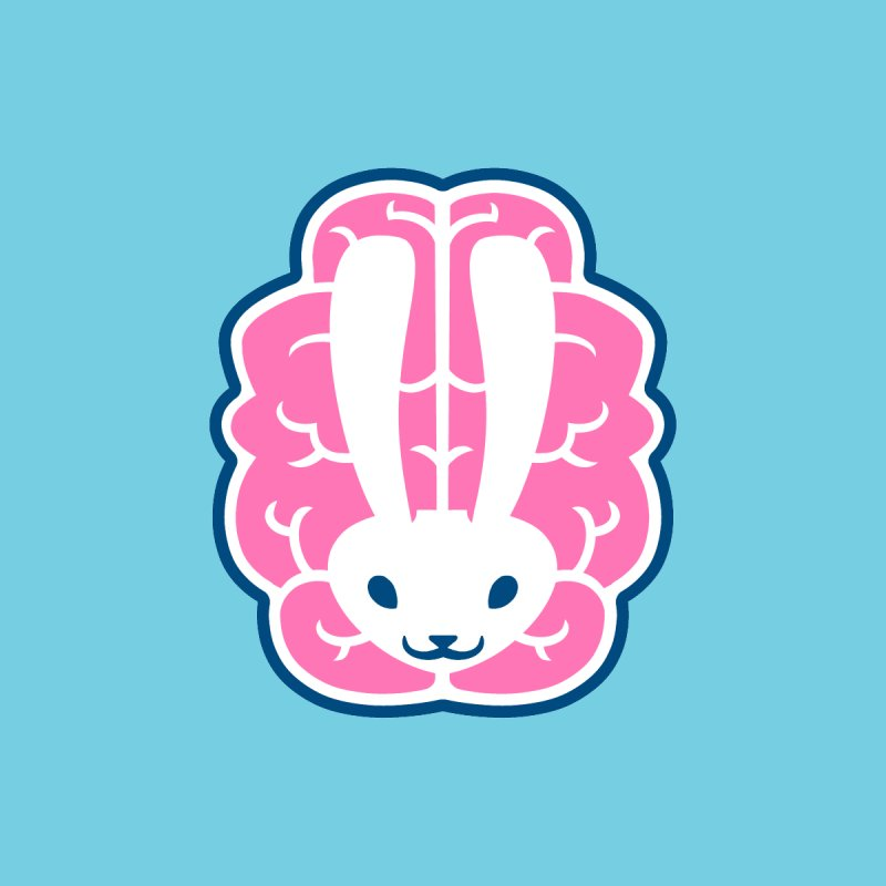Bubblegum Brain Bunny Home Blanket by deantrippe's Artist Shop