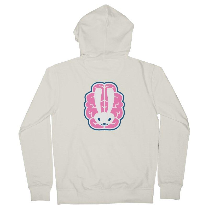 Bubblegum Brain Bunny Women's Zip-Up Hoody by deantrippe's Artist Shop