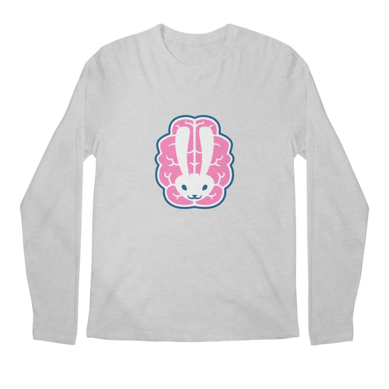 Bubblegum Brain Bunny Men's Longsleeve T-Shirt by deantrippe's Artist Shop