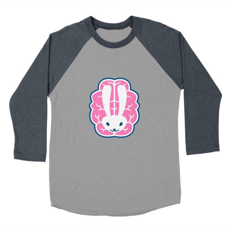 Bubblegum Brain Bunny Men's Baseball Triblend T-Shirt by deantrippe's Artist Shop