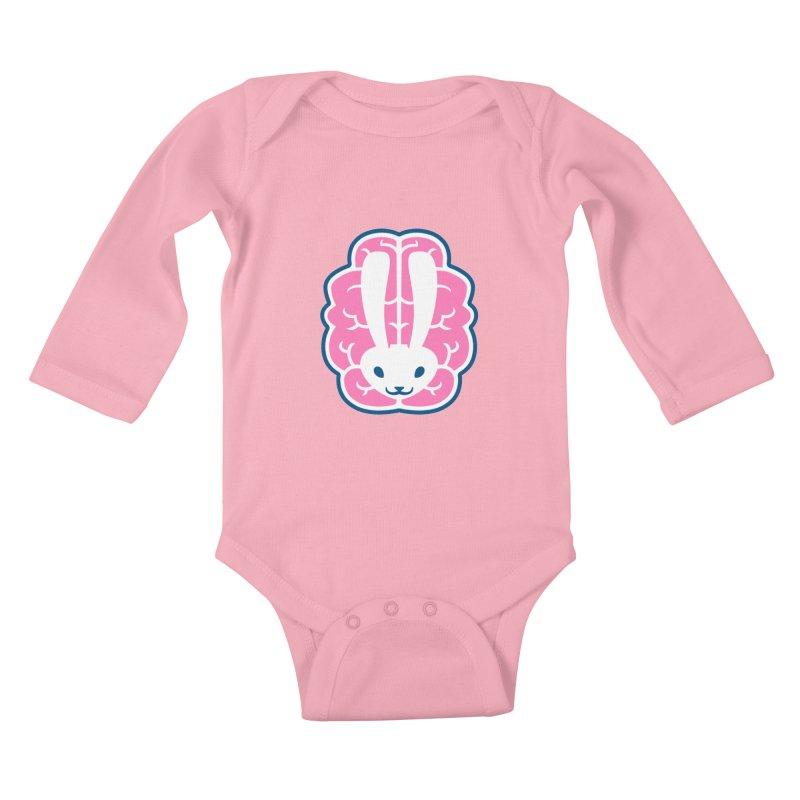 Bubblegum Brain Bunny Kids Baby Longsleeve Bodysuit by deantrippe's Artist Shop