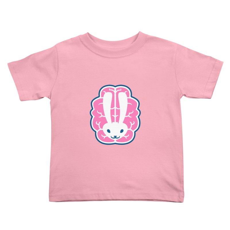 Bubblegum Brain Bunny Kids Toddler T-Shirt by deantrippe's Artist Shop