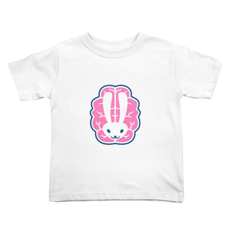 Bubblegum Brain Bunny Kids Toddler T-Shirt by deantrippe's Artist Shop