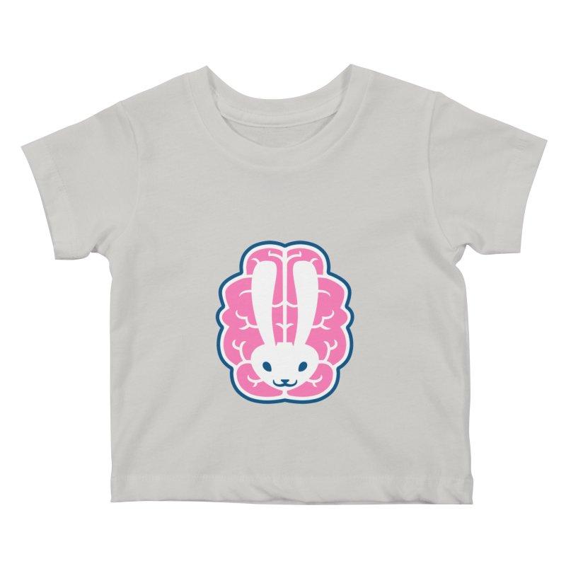 Bubblegum Brain Bunny Kids Baby T-Shirt by deantrippe's Artist Shop