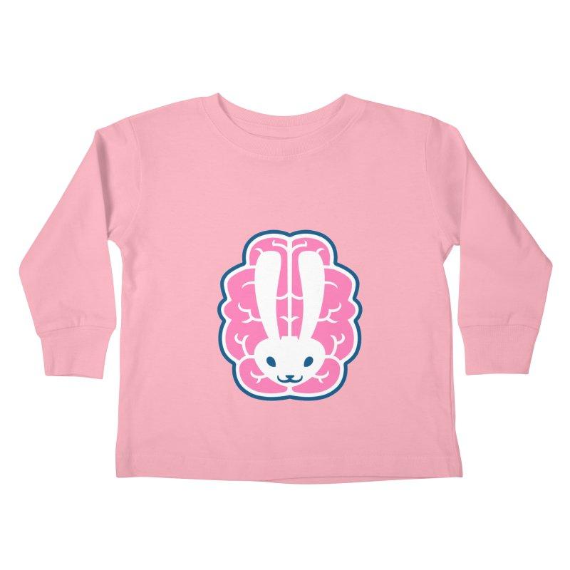 Bubblegum Brain Bunny Kids Toddler Longsleeve T-Shirt by deantrippe's Artist Shop