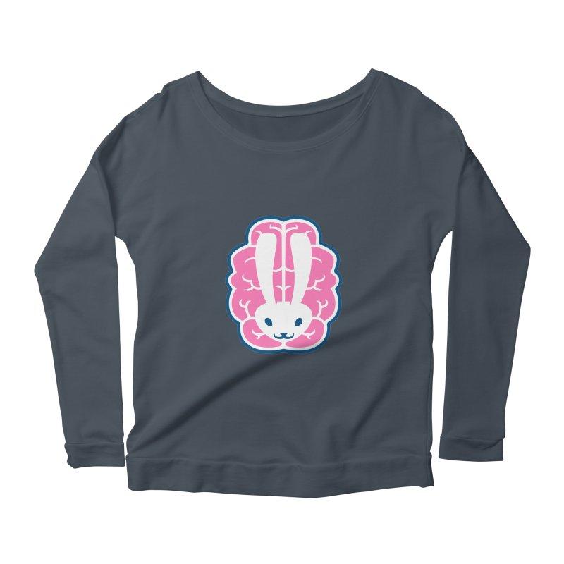 Bubblegum Brain Bunny Women's Longsleeve Scoopneck  by deantrippe's Artist Shop