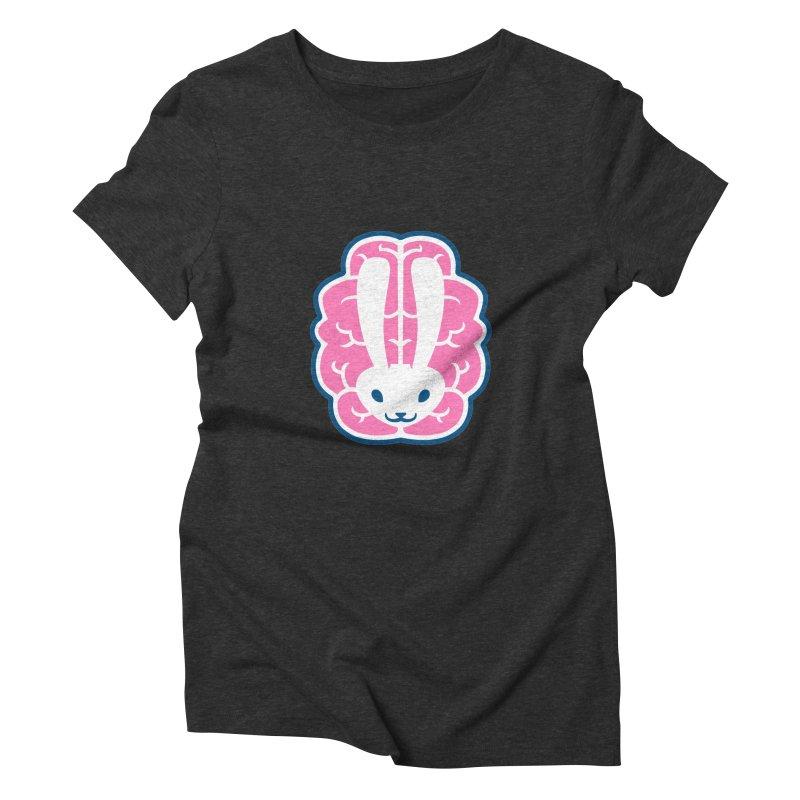 Bubblegum Brain Bunny Women's Triblend T-Shirt by deantrippe's Artist Shop