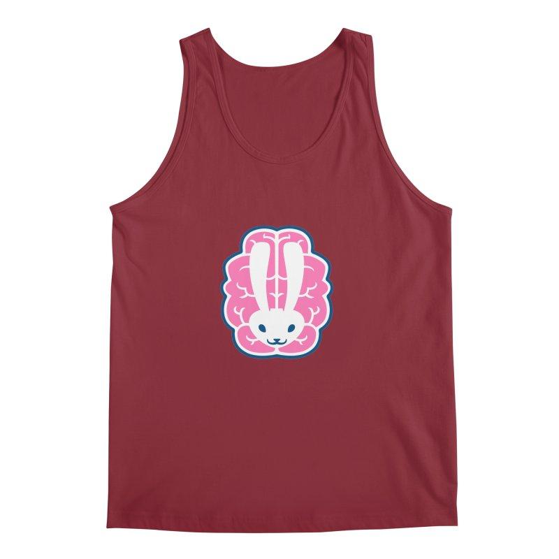 Bubblegum Brain Bunny Men's Tank by deantrippe's Artist Shop
