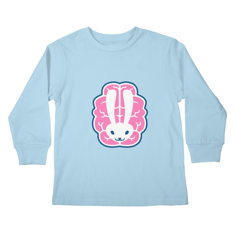 Bubblegum Brain Bunny Kids Longsleeve T-Shirt by deantrippe's Artist Shop