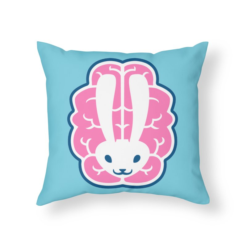 Bubblegum Brain Bunny Home Throw Pillow by deantrippe's Artist Shop