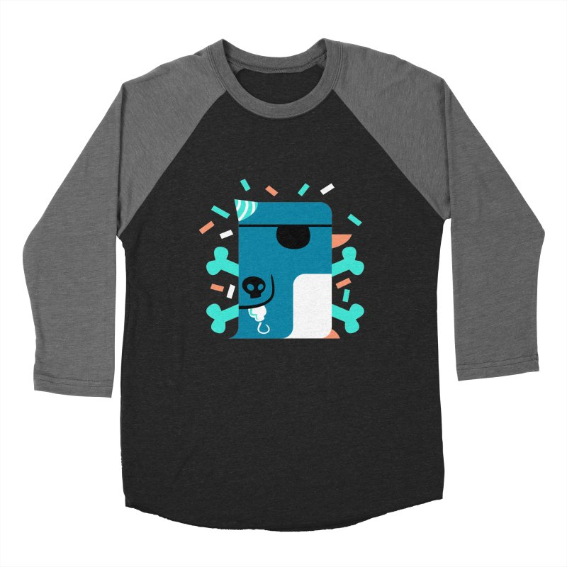 Party Pirate Penguin Men's Baseball Triblend T-Shirt by deantrippe's Artist Shop