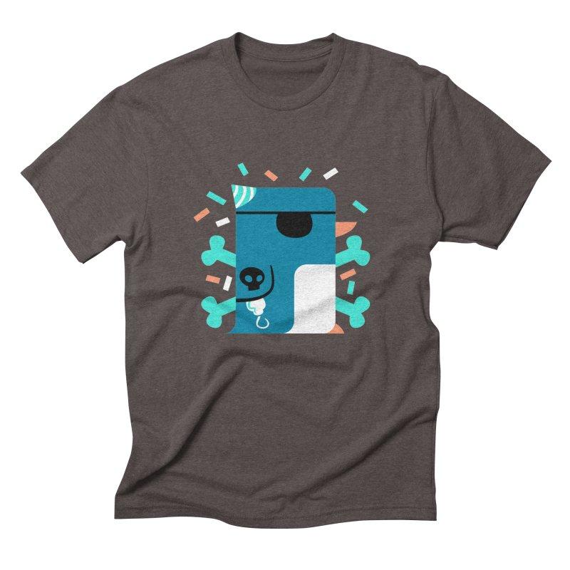 Party Pirate Penguin Men's Triblend T-shirt by deantrippe's Artist Shop