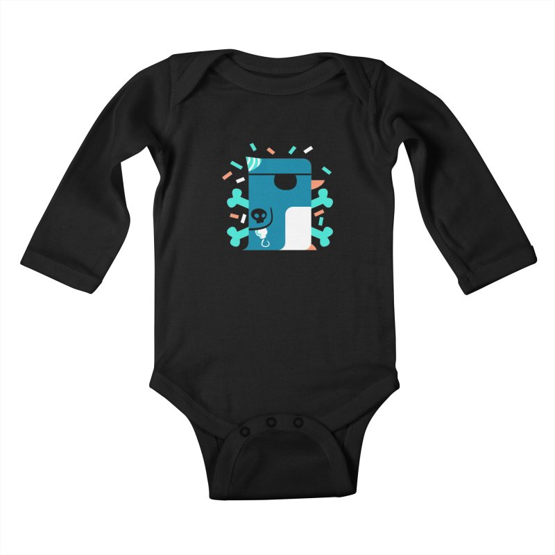 Party Pirate Penguin Kids Baby Longsleeve Bodysuit by deantrippe's Artist Shop
