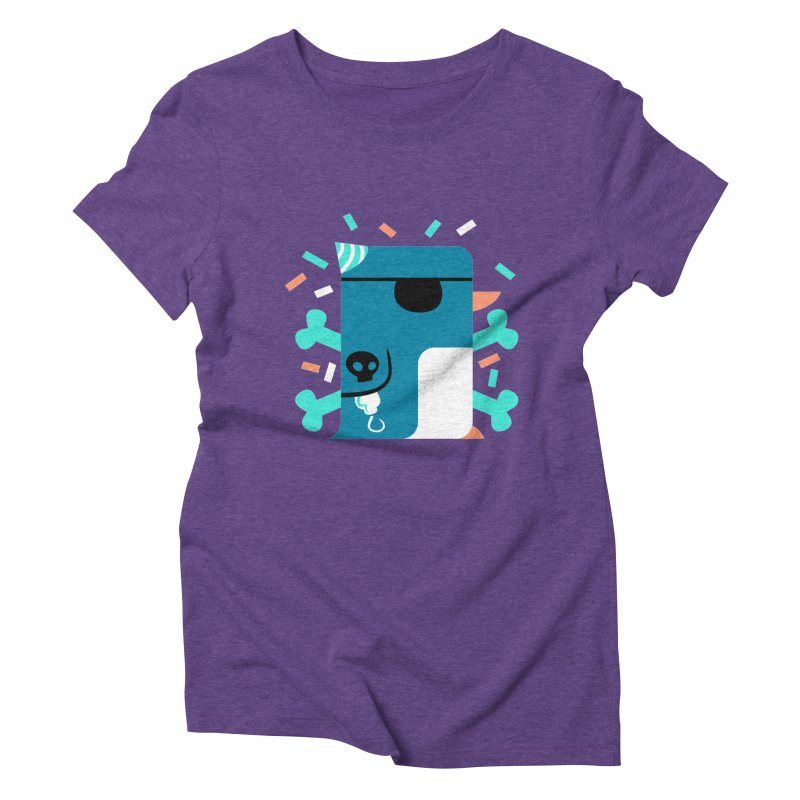 Party Pirate Penguin Women's Triblend T-Shirt by deantrippe's Artist Shop