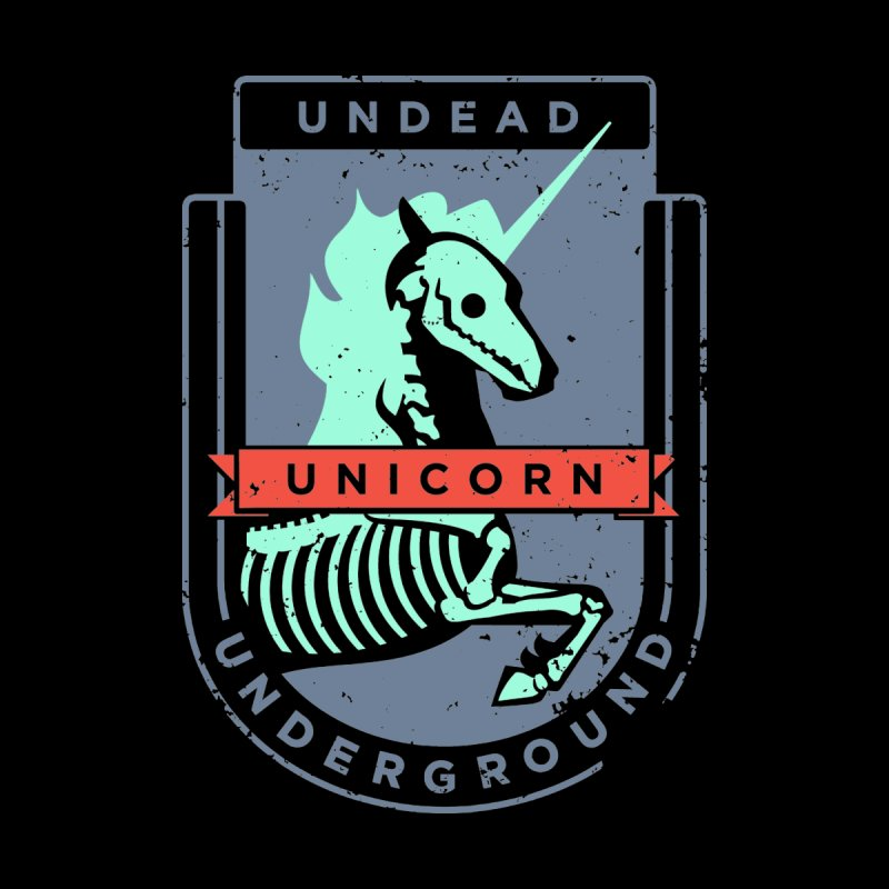 Undead Unicorn Underground Kids Toddler T-Shirt by deantrippe's Artist Shop