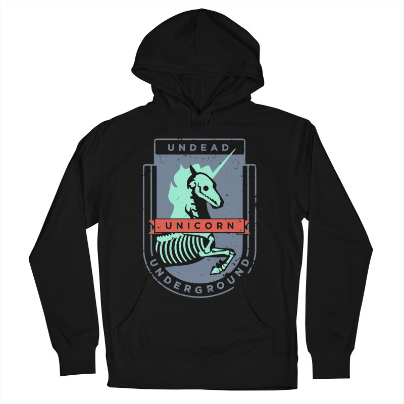 Undead Unicorn Underground Men's French Terry Pullover Hoody by deantrippe's Artist Shop