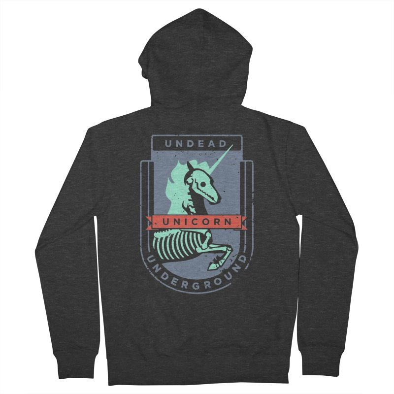 Undead Unicorn Underground Men's Zip-Up Hoody by deantrippe's Artist Shop