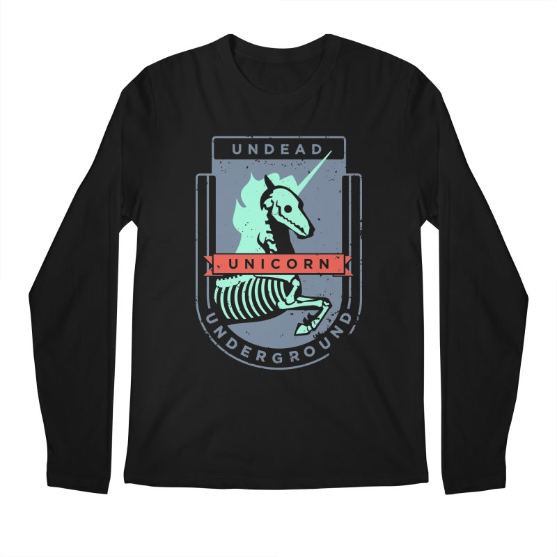 Undead Unicorn Underground Men's Longsleeve T-Shirt by deantrippe's Artist Shop