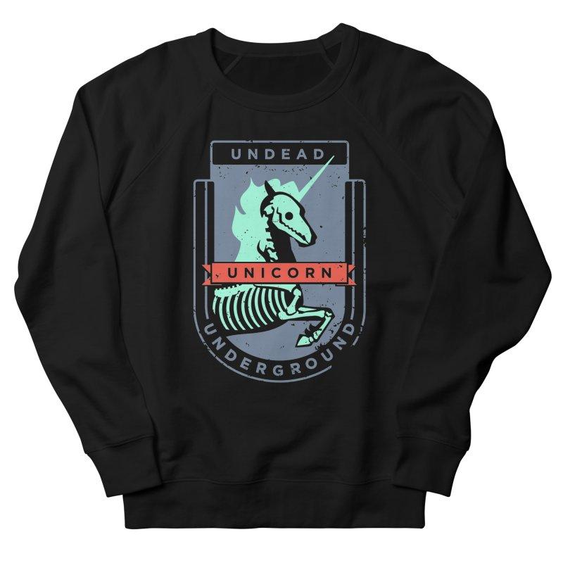 Undead Unicorn Underground Women's Sweatshirt by deantrippe's Artist Shop