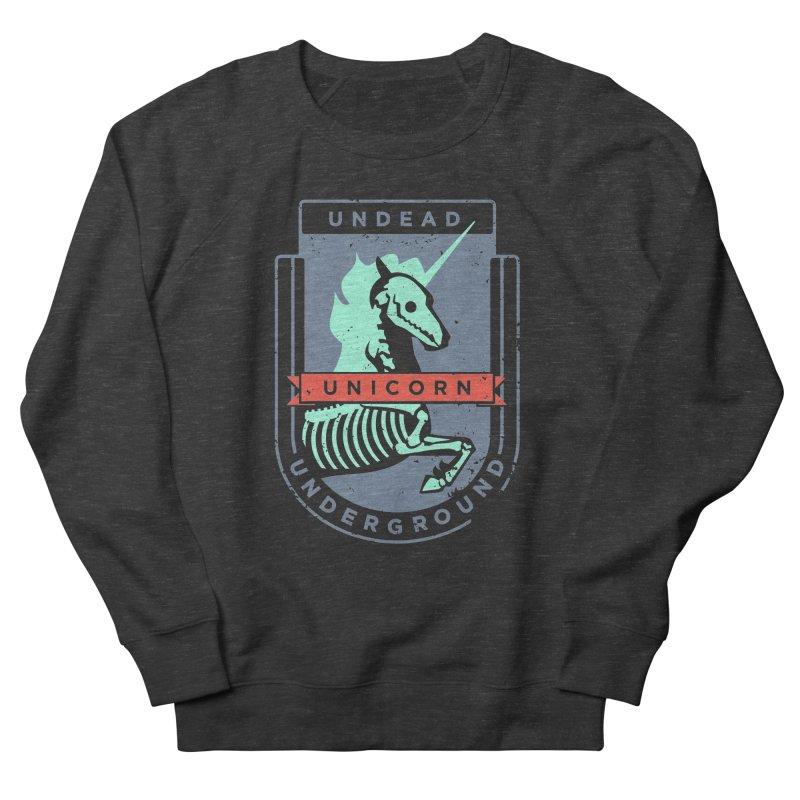 Undead Unicorn Underground Men's Sweatshirt by deantrippe's Artist Shop