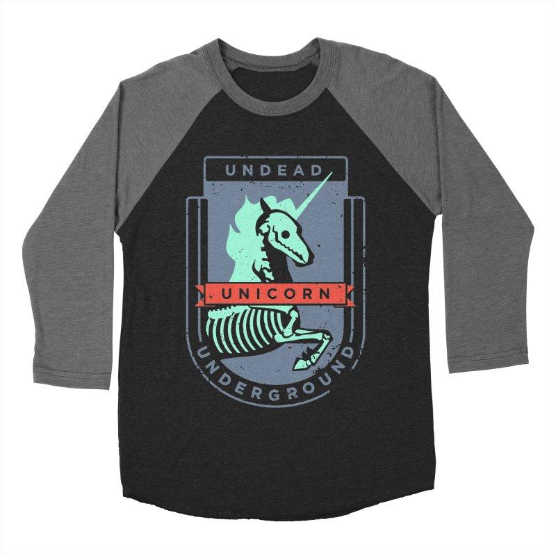 Undead Unicorn Underground Men's Baseball Triblend T-Shirt by deantrippe's Artist Shop
