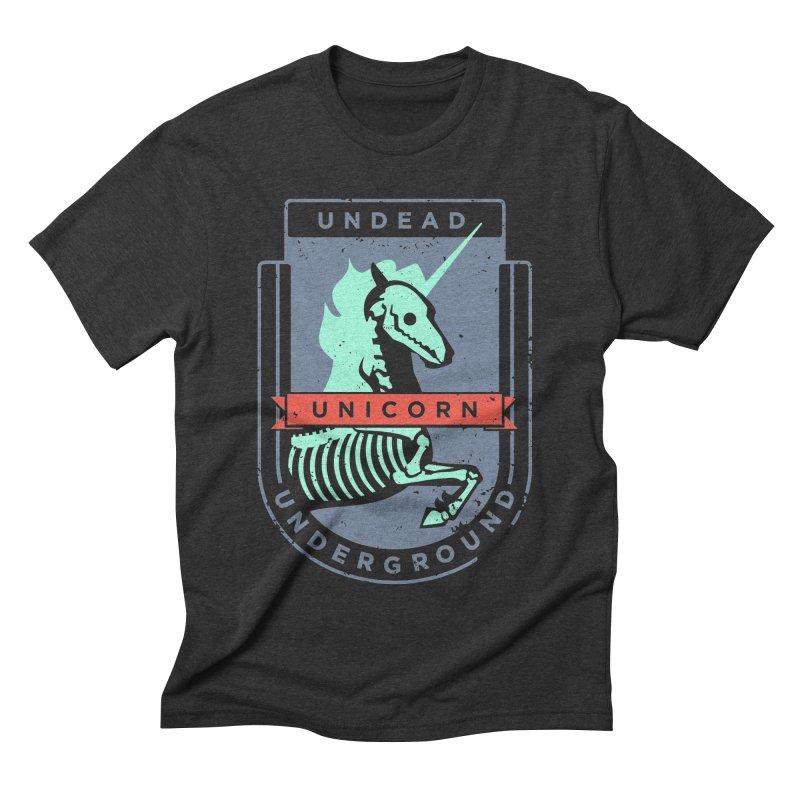 Undead Unicorn Underground Men's Triblend T-shirt by deantrippe's Artist Shop