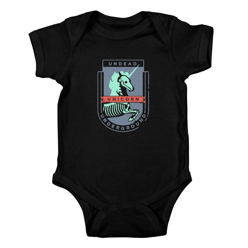 Undead Unicorn Underground Kids Baby Bodysuit by deantrippe's Artist Shop