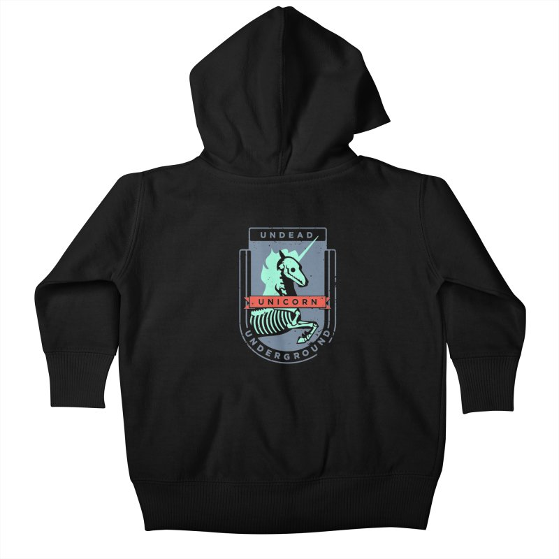 Undead Unicorn Underground Kids Baby Zip-Up Hoody by deantrippe's Artist Shop