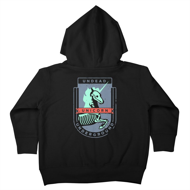 Undead Unicorn Underground Kids Toddler Zip-Up Hoody by deantrippe's Artist Shop