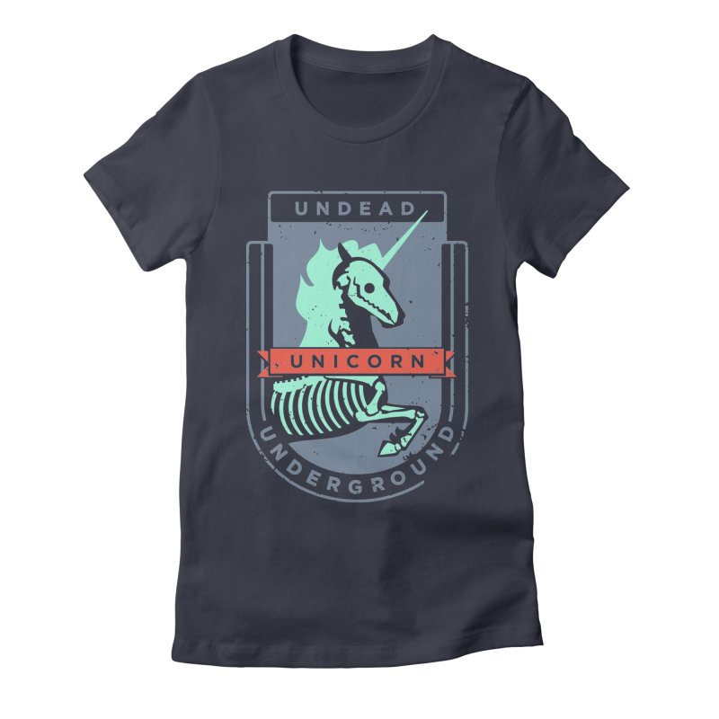Undead Unicorn Underground Women's Fitted T-Shirt by deantrippe's Artist Shop