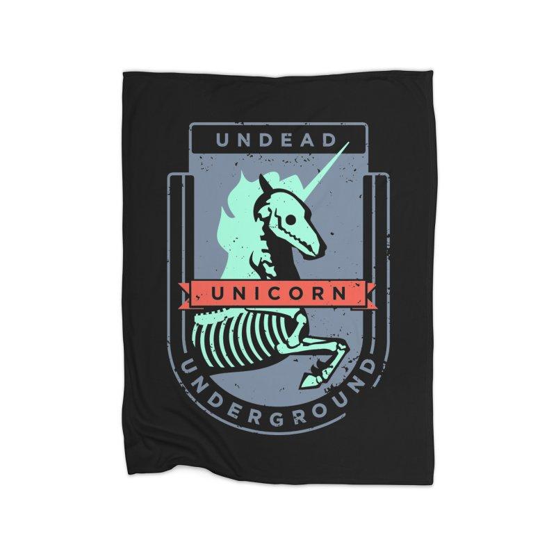 Undead Unicorn Underground Home Blanket by deantrippe's Artist Shop