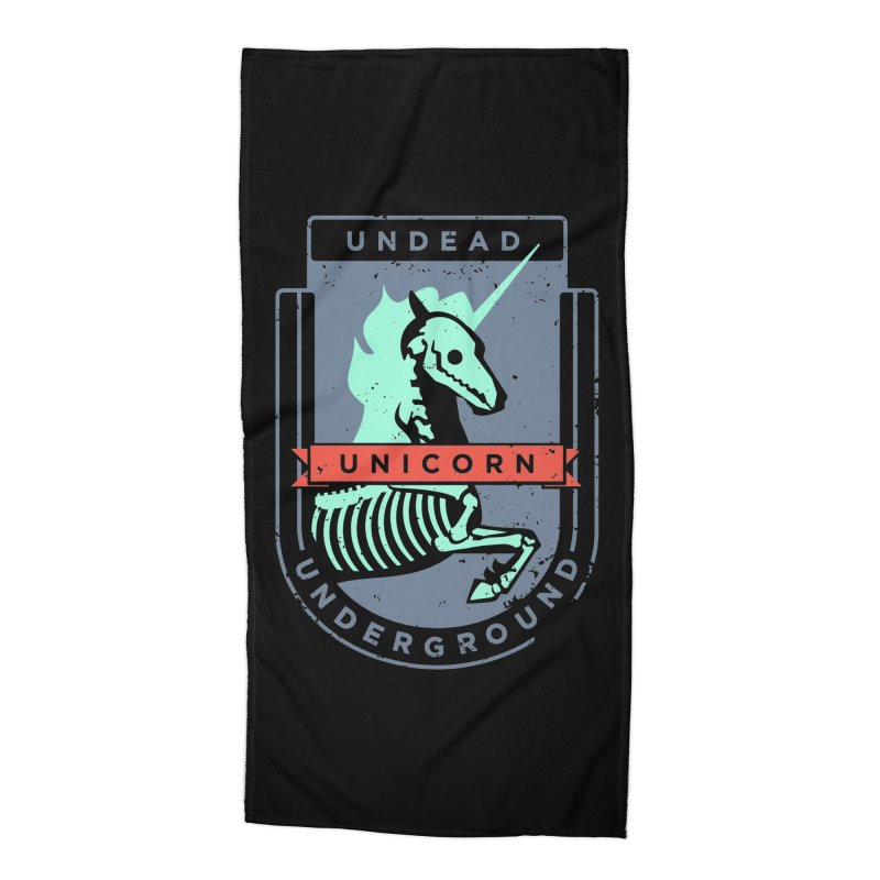 Undead Unicorn Underground Accessories Beach Towel by deantrippe's Artist Shop