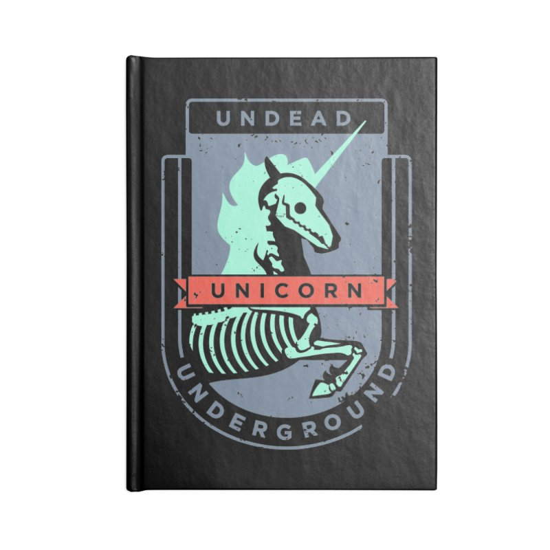 Undead Unicorn Underground Accessories Notebook by deantrippe's Artist Shop