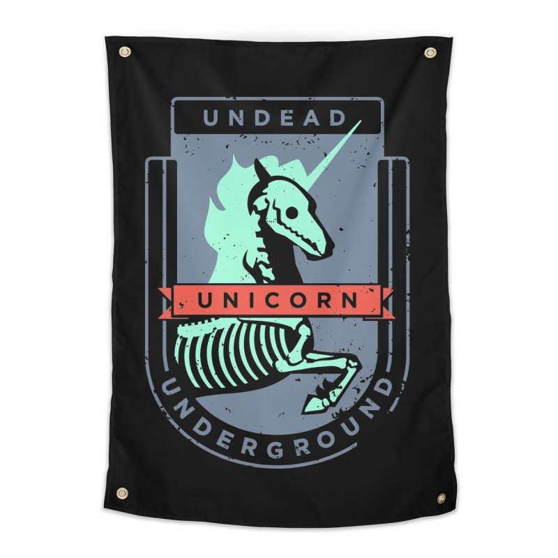 Undead Unicorn Underground Home Tapestry by deantrippe's Artist Shop