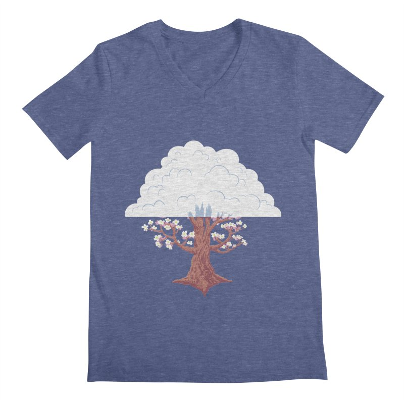 The Fogwood Tree Men's V-Neck by deantrippe's Artist Shop