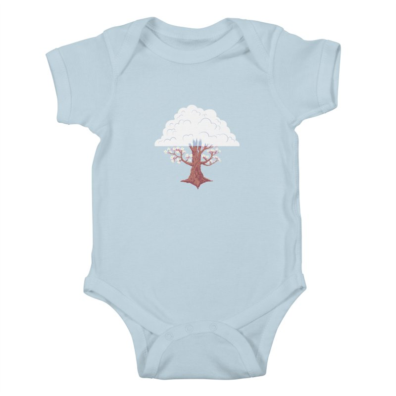 The Fogwood Tree Kids Baby Bodysuit by deantrippe's Artist Shop