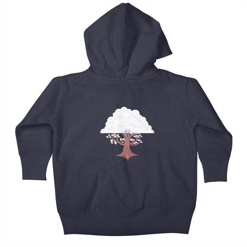 The Fogwood Tree Kids Baby Zip-Up Hoody by deantrippe's Artist Shop
